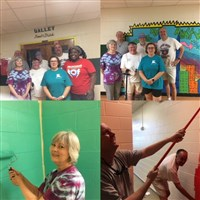 St. John's Nashville - Painting Bathrooms for our Partner School.