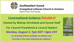 WEBINAR: Congregational Presidents and council leaders (ROUND 4)